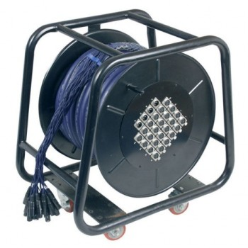 DAP-Audio. Stagewheel 24 In - 4 out 3m m, caja de escenario apantallada