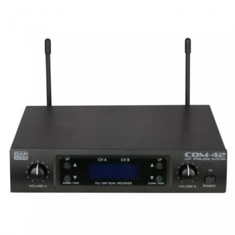 DAP-Audio COM-42. Juego de micrófono inalámbrico UHF de mano de 2 canales