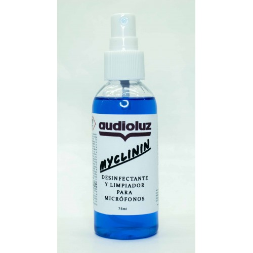 Audioluz MIclinin desinfectante limpiador micrófonos